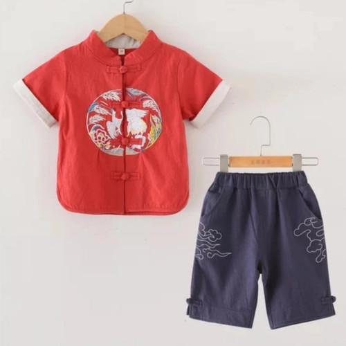 Foto Produk cheongsam anak laki baju imlek anak pakaian imlek anak cheong sam dari littlevelove