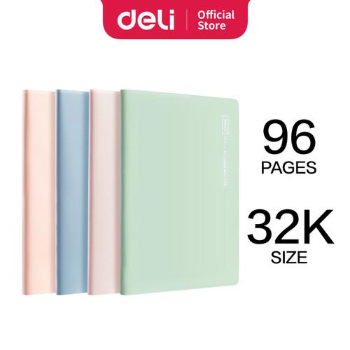 Foto Produk Buku Tulis Sampul Plastik isi 80/96 Lembar QT1680 QT3296 - 32K 96 Halaman dari Deli Stationery