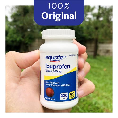 Foto Produk Equate Ibuprofen 100 Caplets - Pain Reliever - Original dari Soho Nootropics