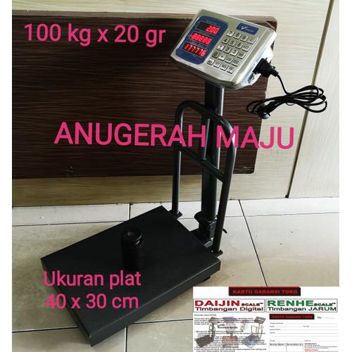 Foto Produk Timbangan Duduk Digital/Timbangan Barang Ekspedisi Paket 100 kg x 20gr dari Anugerah maju