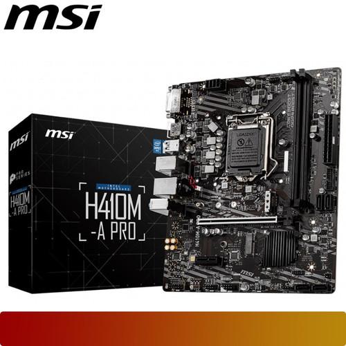 Foto Produk MSI H410M-A PRO | Motherboard Intel Gen 10 LGA 1200 Micro ATX Murah dari UC98