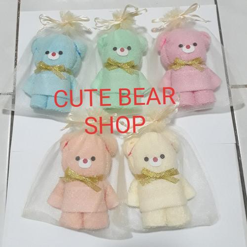 Foto Produk Souvenir Handuk Beruang Lucu/Kelahiran/One Month/Ulang Tahun Tile dari Cute Bear Shop