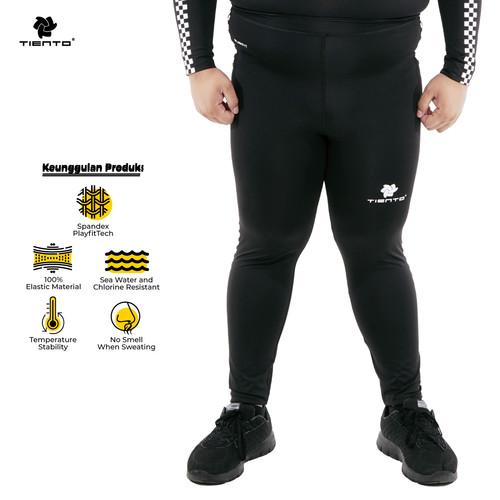 Foto Produk Tiento Celana Legging Sport Long Pants Men Retro Race MenJumbo - XL dari TIENTO