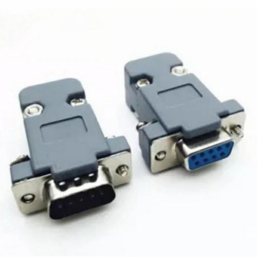 Foto Produk Female DB9 + Cover Soket RS232 Konektor RS 232 + Cangkang Plastik dari TIBATAN