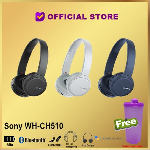 Foto Produk SONY WH-CH510 Wireless Headphones WH CH510 CH 510 - Hitam dari DUNIA COMPUTER & SERVICE
