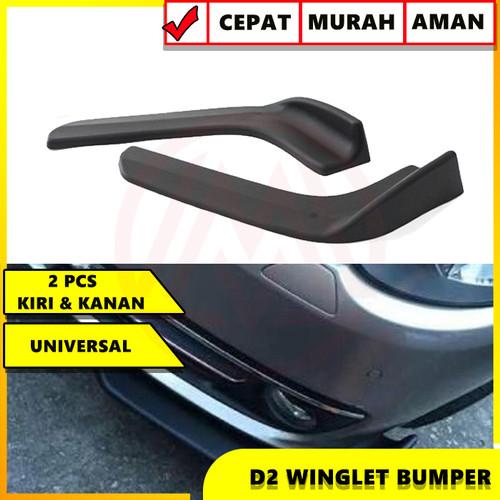 Foto Produk UNIVERSAL BUMPER SPOILER CAR FRONT BUMPER / WINGLET DIFFUSER D2SPEC dari Modifikasi Market