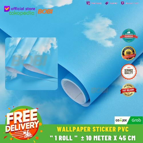 Foto Produk Wallpaper Sticker Motif Awan Langit B-5008 - Awan Polos dari AbadinternasionalTrading