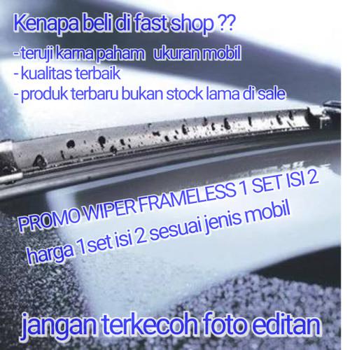 Foto Produk WIPER MOBIL FRAMELESS PISANG 1 SET NEW AVANZA / XENIA - PS20-PS16 dari fast shop 89