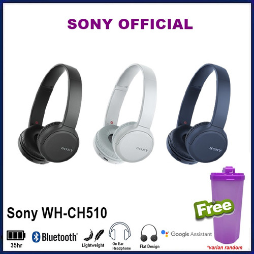 Foto Produk SONY WH-CH510 Wireless Headphones WH CH510 CH 510 WHCH510 - Hitam dari Official Brands
