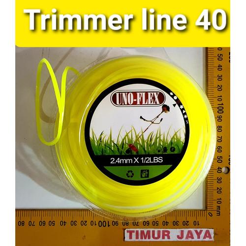 Foto Produk SOLID Senar 50 M KOTAK Mesin Potong Rumput 2.4 mm Grass Trimmer Line dari TOKO BESI TIMUR JAYA