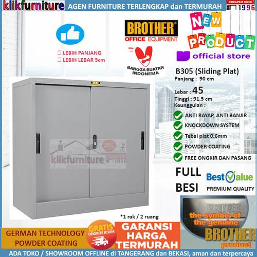 Foto Produk Lemari Arsip Filing Cabinet Besi Pendek 2 Pintu Sliding B 305 Brother dari klikfurniture