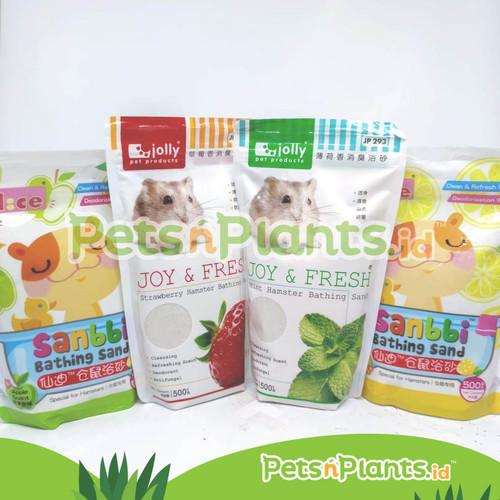 Foto Produk Pasir Mandi Hamster Wangi Jolly Mint 500 gram - RANDOM dari PetsNPlants.ID