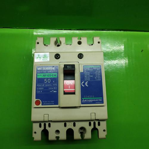 Foto Produk MCCB MITSUBISHI 50A 3P NF125-CW MULUSS dari ASAAH Elektrik