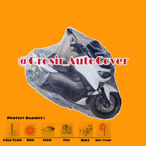 Foto Produk Cover Motor Transparan / Sarung Motor Plastik auto cover - Bening, L dari Grosir_CoverPlastik
