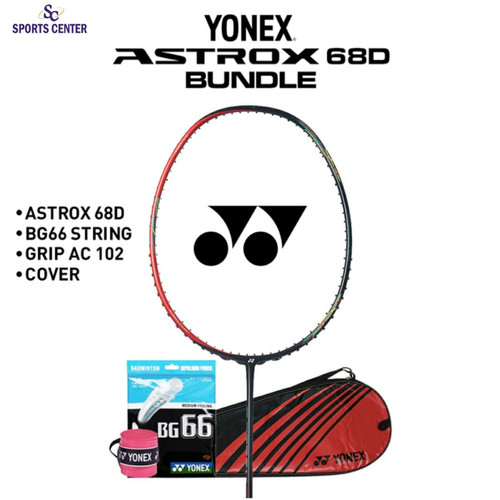 Foto Produk Full Set Raket Badminton Yonex Astrox 68D / 68 D - Ruby Red dari Sports Center