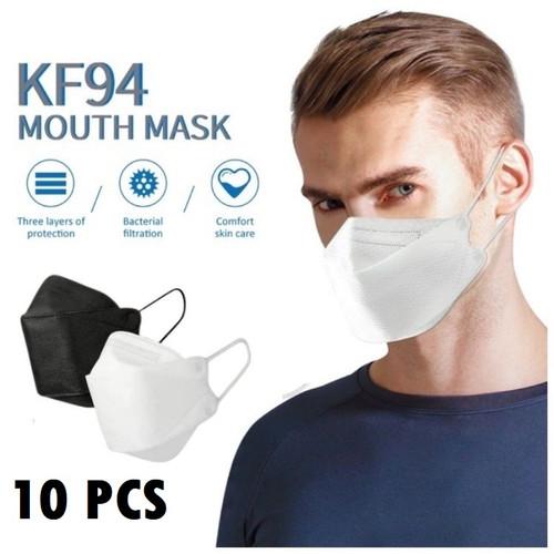 Foto Produk Masker Kf94 4Ply 4 ply korea Evo Plusmed Convex 4D Hitam Putih 10pcs - Putih dari lbagstore