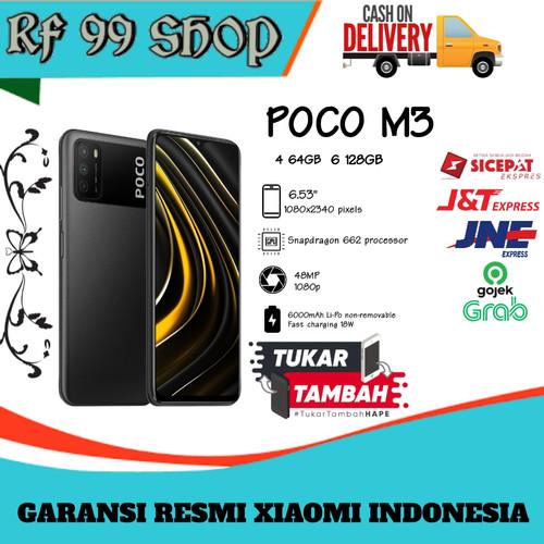 Foto Produk Xiaomi Poco m3 4 64 GB Dan 6 128 GB - Garansi Resmi Xiaomi Indonesia - 4 64GB, Hitam dari RF99shop