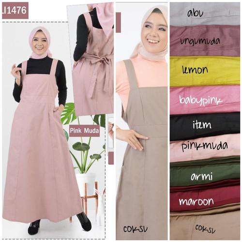 Foto Produk jumpsuit overall dress panjang kekinian/overall termurah - moca dari Lucky-Fashion