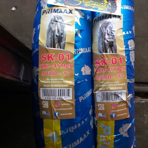 Foto Produk Ban Primax SK 01 Medium 80/80-17 90/80-17 Set Sepasang dari Saeniki motor(Sanimo)