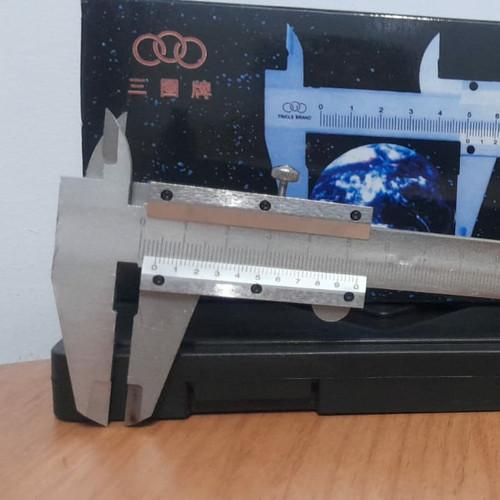 Foto Produk Jangka Sorong Sigmat Sketmat Vernier Caliper besi 6 inch 150 mm - Manual dari RWshopss