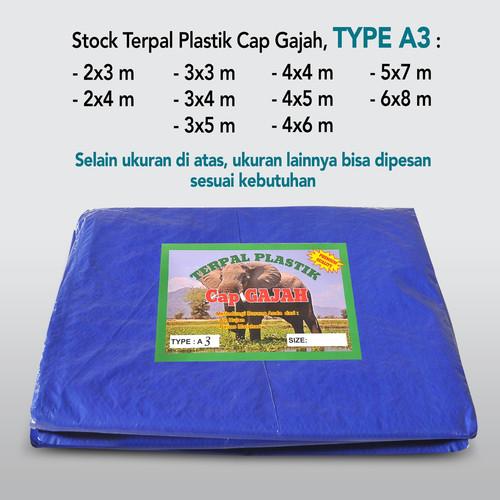 Foto Produk TERPAL PLASTIK A3 Ukuran 3X4 HARGA PABRIK MERK CAP GAJAH Rp. 4.400/M2 dari Terpal Factory Outlet Cap Gajah