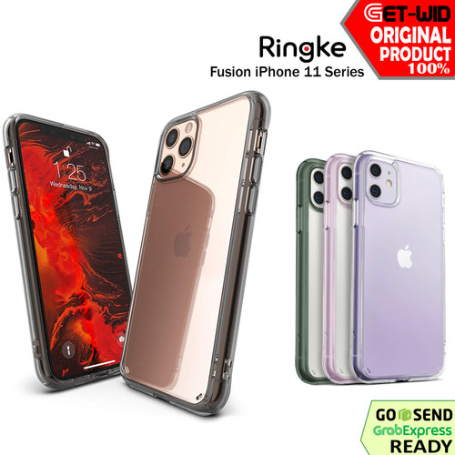 Foto Produk Case iPhone 11 Pro Max / 11 Pro / 11 Ringke Fusion Casing Anti Crack - Clear, iPhone 11ProMax dari GET-WID Official