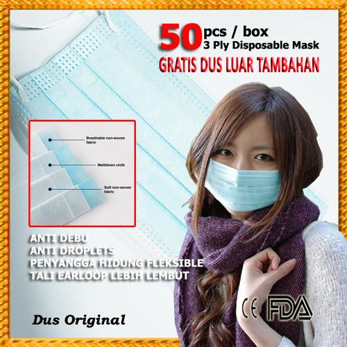 Foto Produk Masker 3 Ply Medis Bedah 3Ply Disposable Surgical Earloop - Face Mask dari Pusat Aksesoris Import *