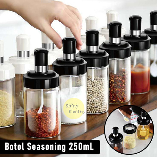 Foto Produk Tempat Bumbu Seasoning Toples Garam Gula Kecap Lada Meses Botol Dapur - Model Sendok dari Shiny Electro