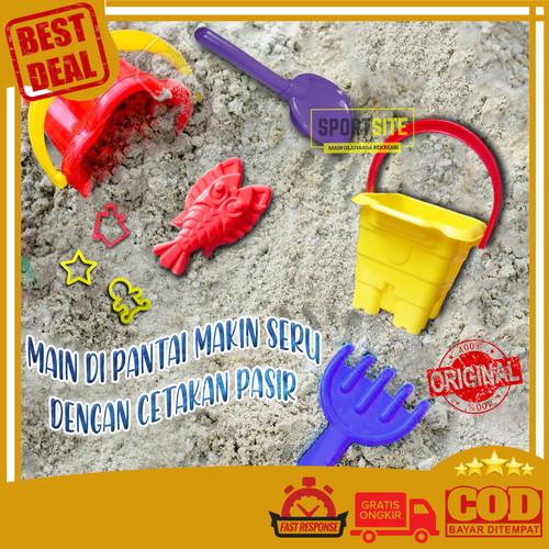 Foto Produk Mini Ember Istana Pasir Mainan Anak Sekop Ikan Kepiting Renang Pantai dari Sportsite
