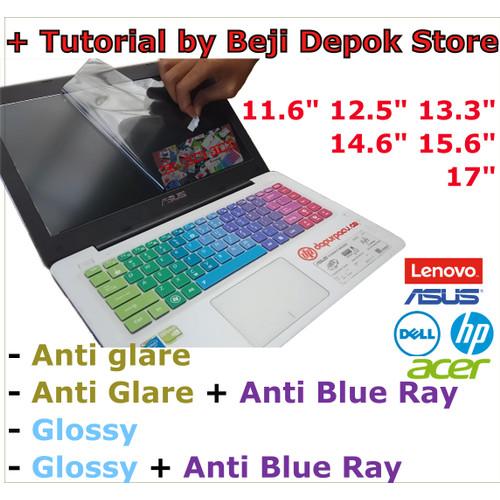 Foto Produk Screen guard anti gores laptop 11.6 12.5 13.3 14.6 15.6 doff radiasi - glossy, 12.5 dari Beji Depok Store