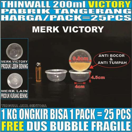 Foto Produk Mangkok Plastik 200 ml Tempat Kotak Makan Nasi Cup Puding Thinwall dari Triguna Jaya Sentosa Trifinity