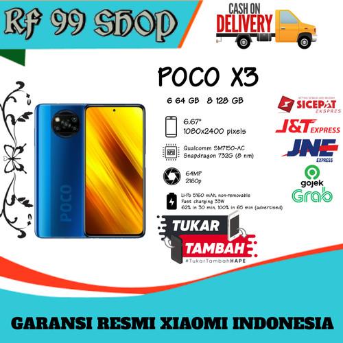 Foto Produk Poco X3 8/ NFC 6/64 - Garansi Resmi - Cobalt Blue dari RF99shop