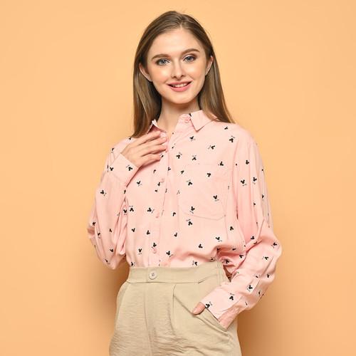 Foto Produk Cammomile 2101015 SF21193 Kemeja wanita lengan panjang - Pink, all size dari Cammomile FashionLine