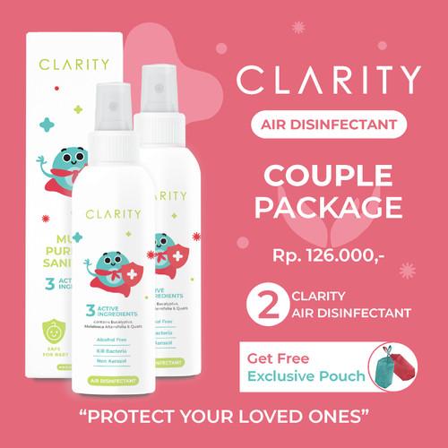 Foto Produk 2pcs CLARITY Air Disinfectant 100ml Non Alkohol Aman untuk bayi & anak dari Clarity Air Disinfectant Offical