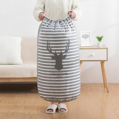 Foto Produk WNG Keranjang Baju Kotor Lipat Pakaian Cucian Laundry Bag Tutup Serut - Rusa dari MitraBotol