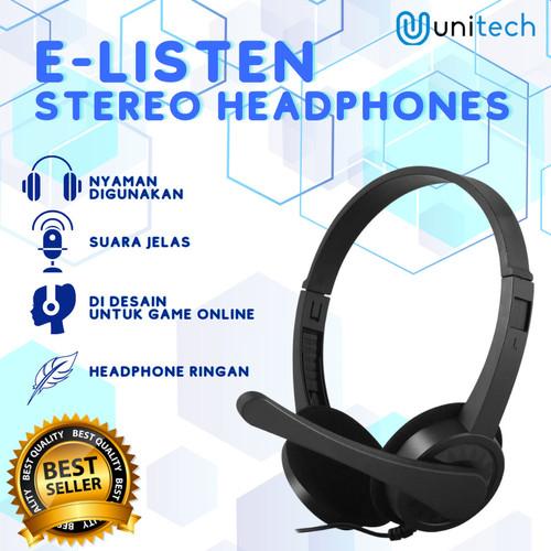 Foto Produk Unitech Headphone Headset Gaming e-listen E-H6108 Headphone Stereo dari TokoUsbcom