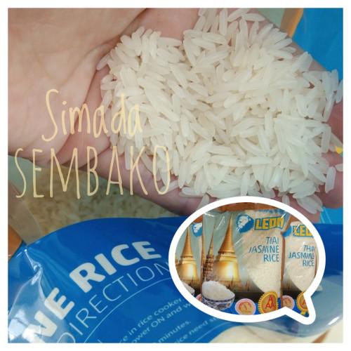 """Foto Produk Beras Thailand Thai Jasmine Rice """" LEON """" AAA. PREMIUM, wangi, bersih dari simada sembako"""