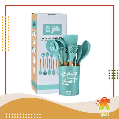 Foto Produk NA JIB Silicone Utensil Set isi 11 + Bucket / Kitchen Silicon Utensil - Tosca dari Niaga Anyar Online Shop