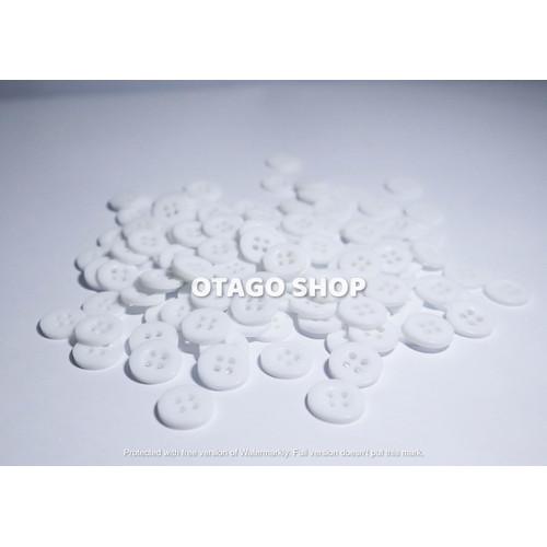 Foto Produk Kancing kemeja warna lubang 4 - Putih dari otago shop