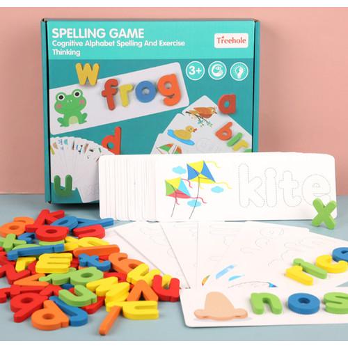 Foto Produk Spelling Puzzle / Puzzle Membaca / Cognitive Alphabet Spelling - Spelling Biru dari said_kidsshop
