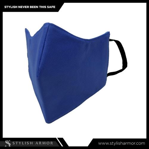 Foto Produk Masker Stylish Armor Silver Antimicrobial 3ply earloop Blue 12pcs - M dari STYLISH ARMOR