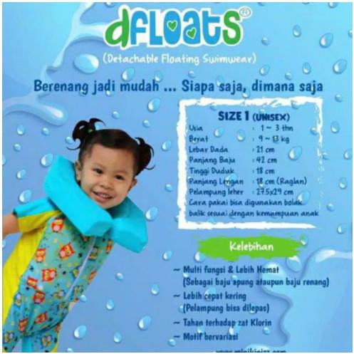 Foto Produk DFLOATS Baju Renang Apung Bongkar Pasang Multifungsi Untuk Anak Usia 1 - Size 1 Unisex dari Enilate