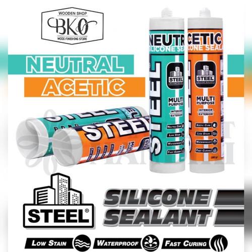 Foto Produk Silicon steel sealent kaca NEUTRAL silicon kaca - Hitam dari BKO Wooden shop