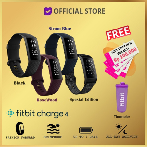 Foto Produk Fitbit Charge 4 Fitness Activity Tracker - Black Free dari DUNIA COMPUTER & SERVICE