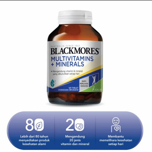 Foto Produk Blackmores Multivitamin & Minerals isi 120 Tablet Kalbe Indonesia dari siapa kira