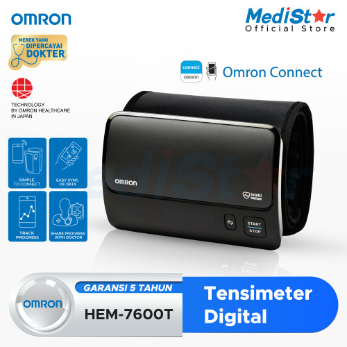 Foto Produk OMRON Blood Pressure Monitor HEM-7600T(With Bluetooth) dari MediStar