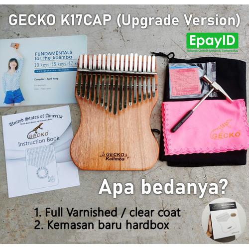 Foto Produk GECKO K17CAP Kalimba 17 Keys SOLID Kalimba Mbira Piano FREE BONUS - K17CAP Upgrade dari Epay ID