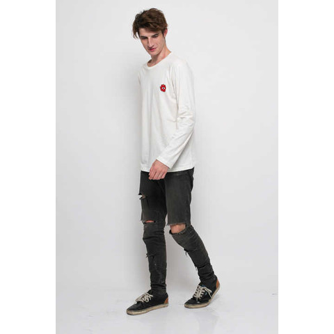 Foto Produk Rose Eye Patch Long Sleeve Tee - S dari Monstore