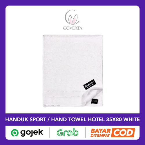 Foto Produk Handuk Tangan Hotel Putih Polos - Hand Towel - Handuk Sport 35x80cm dari Coverta Bedding