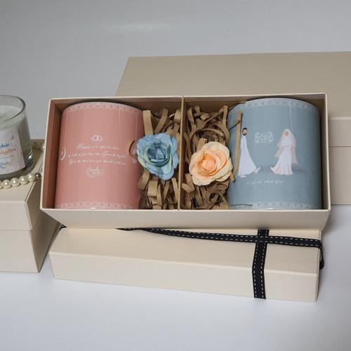 Foto Produk Box Kado Pernikahan Hampers Gelas Mug Couple Custom untuk Pasangan dari KadoMuslim